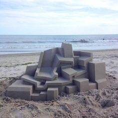 Mind-blowing Geometric Sandcastles by Calvin Seibert