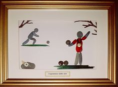 A touch of gold on this pebble art, well done to a local gold medalist #lawnbowls #bowling #goldmedal #llandrindodwells #llandrindodlife #pebbleartist #winner #firstplace #ilovebowling #welshbowls #stones
