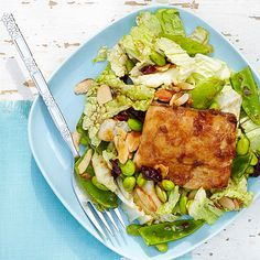 Our Maple Mahi Mahi Salad is packed with protein! More quick and healthy salads: http://www.bhg.com/recipes/healthy/quick-and-healthy-salad-recipes/?socsrc=bhgpin072514maplemahimahisalad&page=6