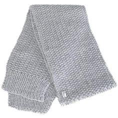 Echarpe grise en laine