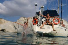 Fun diving in a Polco Sailing cruise Location: Gerontas Milos  www.polco-sailing.com
