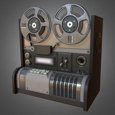 Reel to Reel Recorder by C. Crumpler on Creative Market