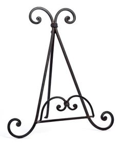 Take a look at this Swirl Wrought Iron Plate Holder by Caffco on today!  sc 1 st  Pinterest & French Country Iron Plate Display or Paper Plate Holder for Your ...