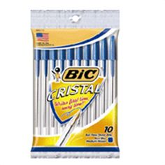 Bic Cristal Classic Ballpoint pen, Medium Point, Blue - 10 ea, 12 Pack | Bic Cristal Classic Ballpoint pen is a World Renowned Classic. myotcstore.com - Ezy Shopping, Low Prices & Fast Shipping.