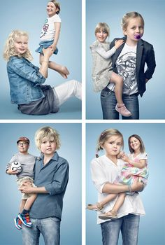 Art director Florian Schmucker, photographer Paul Ripke, and producer called POP has teamed up and made a bizarre digital art series of children and parents swapping heads