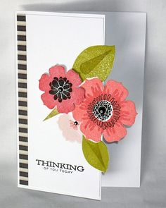Beautiful Blooms 1 and Happiness in Bloom Leaves dies and Happiness in Bloom stamp set.