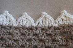 59 Free Crochet Patterns for Edgings, Trims, and Blanket Borders: 3. NEW! Pointed Scallops Edging