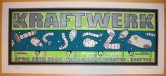 2004 Kraftwerk - Silkscreen Concert Poster by Tara McPherson