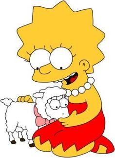 Lisa Simpson, couldn't bring herself to eat lamb, so she went vegetarian.