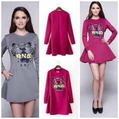 Detail:EQ 180 Kenzo A-Line Dress (GREY/PINK size S,M, L)Detail:EQ 180 Kenzo A-Line Dress (GREY/PINK size S,M, L)Excellent QualityFabric Thick Polyester, Elastic GoodSize S.M.L  in cmBust (82,84,88) Shoulder (36,37,38) Sleeve (55,56,57) Waist (68,70,72) Length (80,81,82)Side Zippersebelum membeli tanyakan ketersediaan stok terlebih dahuluinfowa 081237304540 bb pin 551fd9be Happy shopping