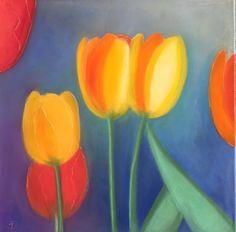 Tulpen / Pastellkreide