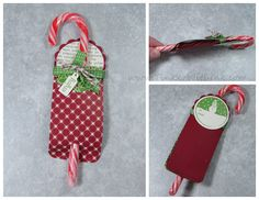 Tinker With Ink & Paper: Ornament #7: Candy Cane Tag-a-ment