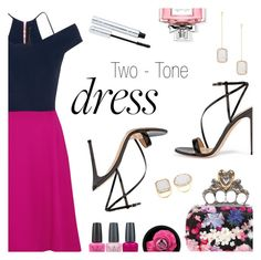 """""""On Trend: Two-Tone Dresses"""" by dressedbyrose ❤ liked on Polyvore featuring Roland Mouret, Gianvito Rossi, Alexander McQueen, Vera Wang, OPI, 100% Pure, Christian Dior, polyvoreeditorial and twotonedress"""