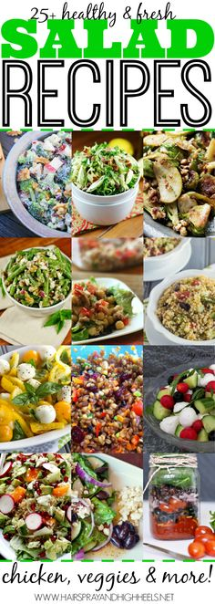 25 Salad Recipes via www.hairsprayandhighheels.com