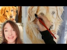 How to paint a Golden Retriever in Watercolor for Beginners - Fur, Loose Background, and more! - YouTube Book Journal, Book Art, Watercolor Lesson, Fur, Yahoo Search, Painting, Youtube, Style, Swag
