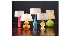 Bedside Lamps   (far right, different color/not green)