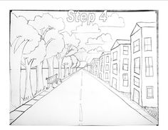 3rd Grade project over Perspective.    Depending on where you put the vanishing point is your perspective on the picture. Where the vanishi...