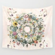 Wall Tapestry featuring  Circle Of Life by Anipani