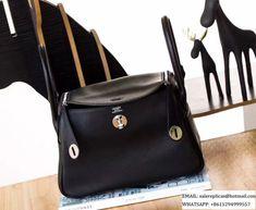 c31d1151d3c3 Hermes Lindy 26 bag - Black Swift Leather