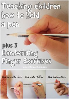 Learn with Play at Home: Finger Exercises for Kids learning Handwriting and How to Hold a Pen Correctly.