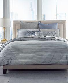 hotel collection diamond stripe pima cotton multi grey comforter 385