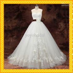 Custom Actual Image Romantic Ribbon With Flowers Sweetheart Ball Gown Organza Ruffle Applique Lace Cheap Wedding Bridal Dress Dresses Gown Wedding Dresses Online Shop Wedding Dresses Princess From Yoyobridal, $155.76| Dhgate.Com