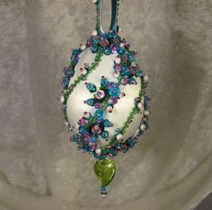 Beaded Easter Ornament Kit Madison by Glimmertree on Etsy, $24.50