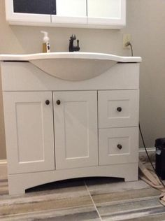 Glacier Bay Lancaster 36 In Vanity In White With Cast