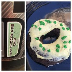 Mint chocolate chip (or any flavor of whey) protein donuts