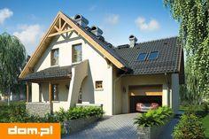 DOM.PL™ - Projekt domu Mój Dom Bratek CE - DOM BM6-33 - gotowy koszt budowy Home Fashion, Planer, House Plans, Cabin, How To Plan, Mansions, House Styles, Home Decor, Home Plans