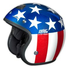 Troy Lee Designs Open Face Helmet Fonda Red/Blue #USA