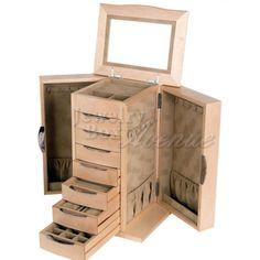 Supreme Maple Wooden Jewelry Box - Jewelry Box Avenue