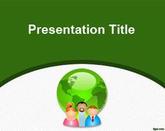Free Green Communication PowerPoint Template