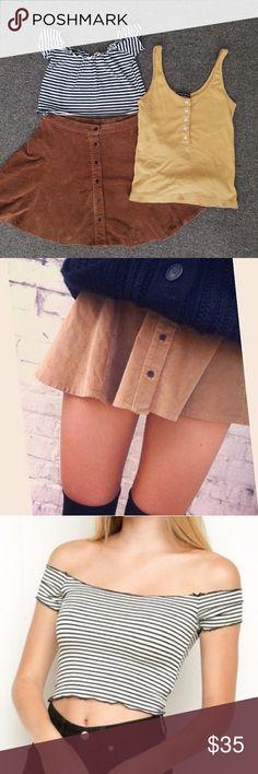 2072b53d4 Brandy Melville Bundle 1. Brya skirt (measurements flat 13