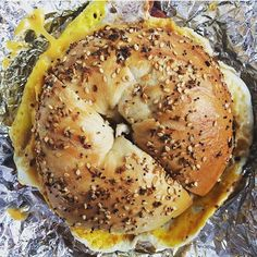 Happiness is a warm bagel #goodmorning (: @sam_ulban)