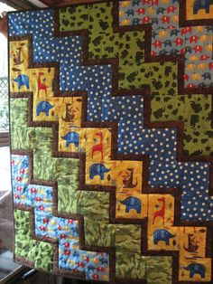 Great baby quilt: pattern is self explanatory.