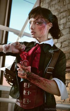 "mahlibombing: "" Femme Booker Dewitt: BioShock Infinite Cosplay Cosplay by Angela Bermudez "" Bioshock Infinite, Bioshock Game, Bioshock Series, Cosplay Dress, Cosplay Girls, Cosplay Costumes, Amazing Cosplay, Best Cosplay, Cosplay Diy"