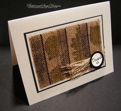 Butternut Sage Designs....: EMBOSSED BURLAP