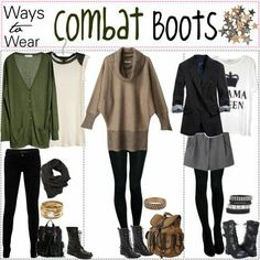 More ways to wear combat boots