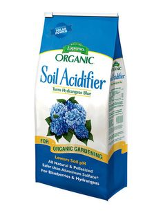 "Correct Alkaline Soils for Acid-Loving Plants      Brings out blue color in hydrangeas, greens up azaleas and rhododendrons, and helps produce luscious blueberries     All-natural, chemical-free and low in salts — won't ""burn"" plants     We recommend testing your soil pH before applying sulfur     6-lb. bag  Applying organic, elemental garden sulfur is a safe and effective way to lower soil pH. Sulfur is also an important soil nutrient for promoting disease resistance."