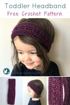 Adorable crochet toddler headband. Perfect ear warmer for fall, winter, and spring. Easy to follow directions in this free pattern! Click now to see how it is made. | Free Crochet Pattern - Toddler Headband. #crochetheadband #crochetpattern #freecrochetpatterns