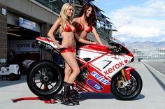 #Ducati MotoGP racebike with glam Ducati #grid girls #paddock girls