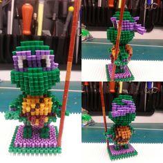 3D Donatello - TMNT perler beads by airun7691