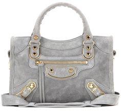 Balenciaga Classic Metallic Edge Mini City suede shoulder bag on ShopStyle