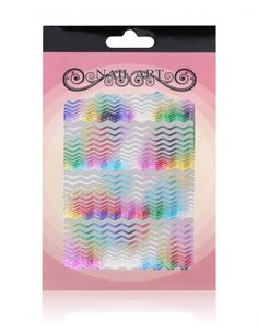 Nagelsticker Hologramm Wellen #nailart #sticker #hologram