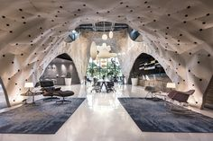 """Flexible plywood """"Shop-in-Shop"""" interior for Herman Miller by PRODUCE Workshop, Singapore"""