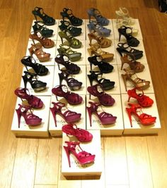 7c9a69022a41 rainbow of YSL sandals. yes please! Ysl Sandals