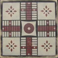 Primitive Quilt Parcheesi Game Board