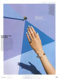 IAM by Ileana Makri - Sterling Silver and white enamel safety pin cuff- Elle UK - May 2015 - F1