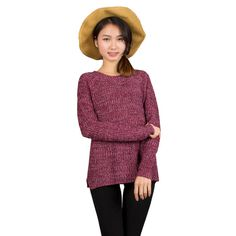 e6a9f7d95f Spring Mixed Color Wool Plus Size Women s dress Comfort Knitted Pullover  Sweater Fashion O-Neck Long Sleeve Jumper Top